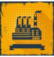 Industrial factory building background vector image