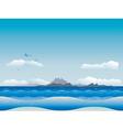 Islands in ocean vector image vector image