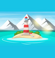 lighthouse sea - cartoon landscape vector image vector image