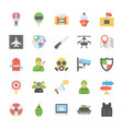 military and weapons flat icons vector image vector image