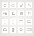 Modern Social media icons vector image