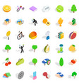 needed icons set isometric style vector image vector image