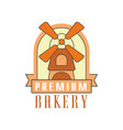 premium bakery logo template bread shop badge vector image