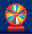realistic detailed wheel luck fortune vector image
