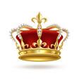 Realistic golden crown 3d elegant queen or