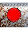 Rusty metal frame with red lamp vector image vector image