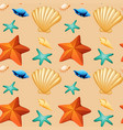 sea element on seamless pattern vector image