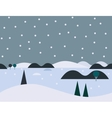 Seamless Cartoon Nature Snowy Landscape vector image vector image