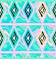 seamless triangle pattern with grunge vector image vector image