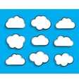 Set of Flat Cloud Shaped Frames with Long Shadows vector image