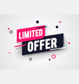 special limited offer sale banner discount tag vector image