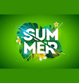 summer holiday with typography vector image vector image