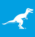 theropod dinosaur icon white vector image vector image