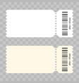 ticket blank modern white template vector image