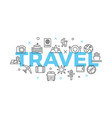 travel concept with icons and signs vector image vector image