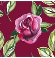 Watercolor seamless pattern with roses and leaves vector image vector image