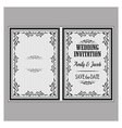 wedding invitation v vector image vector image