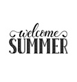 Welcome summer wording vector image vector image
