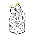 Nativity family silhouette vector image
