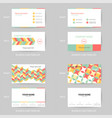 set of modern and clean pastel business card vector image