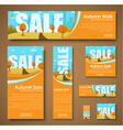 set of web banners with autumn landscape for sale vector image