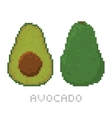 Pixel art game style avocado isolated vector image