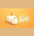 3d realistic white gold pumpkin isolated on orange vector image