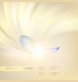 abstract of blue optical lens on soft vector image vector image
