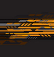 abstract yellow grey geometric cyber futuristic vector image vector image