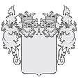 aristocratic emblem No23 vector image vector image
