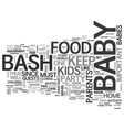 babybash text word cloud concept vector image vector image