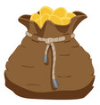 bag of coins-1-2 vector image