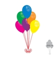 Balloon bunch vector image