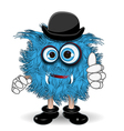 Blue Monster in the Hat vector image vector image
