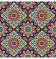 boho tile flower squares colorful 2 vector image