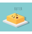 cartoon butter dessert design isolated vector image