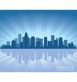 charlotte north carolina skyline vector image vector image