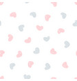 childish seamless pattern with hearts vector image vector image