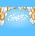 congrats celebrate template vector image
