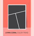 coral trendy color vertical collage layout vector image