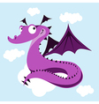 cute dragon vector image vector image