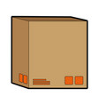 delivery cardboard box package icon vector image vector image