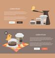 flat design coffee concepts web vector image