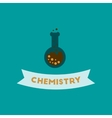 flat icon on background chemistry lesson vector image vector image