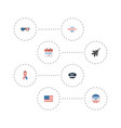 flat icons awareness hat american banner and vector image vector image