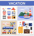 flat summer vacation square concept vector image