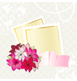 Floral card design with notepaper vector image vector image