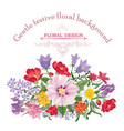floral frame summer greeting card flower bouquet vector image vector image