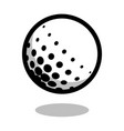 golf sport ball logo line 3d icon vector image