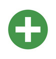 green cross medical symbol vector image